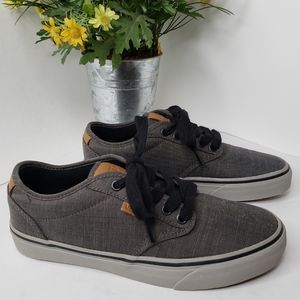 Vans Atwood Deluxe Gray On Gray Skater Shoes Sz 7